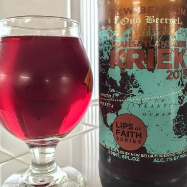 New Belgium Transatlantique Kriek Ale 2015 Lips of Faith series